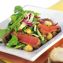 Peppered Beef and Roasted Macadamia Salad