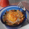 Baked Eggs with Creamy Spinach Hash Browns