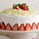 White Chocolate-Strawberry Tres Leches Cake